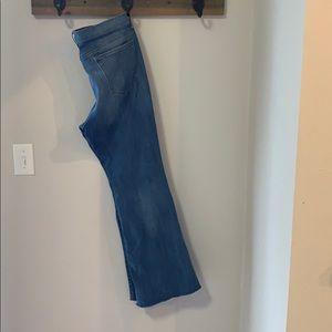 High waist flare leg jeans, 31 short
